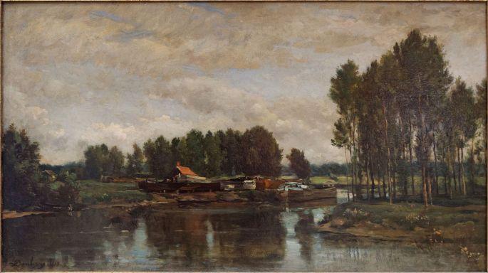 Bateaux_sur_l'Oise_by_Daubigny_Louvre_RF1369_n1